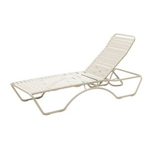 Baja Strap chaise lounge with Sandstone finish