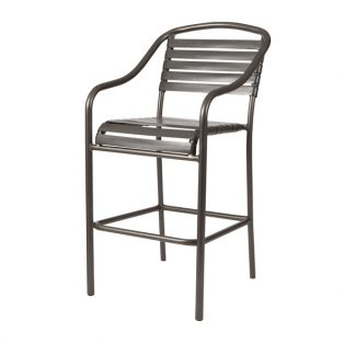 Baja Strap stationary barstool with Pewter finish