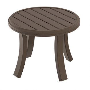 "Banchetto 24"" round slat top tea table"