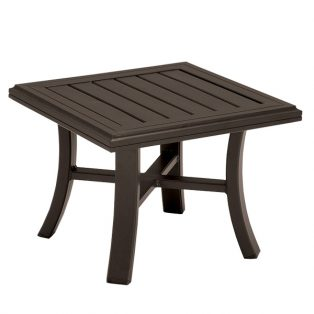 "Banchetto 24"" square slat top tea table"