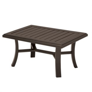 "Tropitone Banchetto 24"" x 36"" rectangle slat top coffee table"