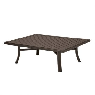 "Banchetto 42"" x 54"" rectangle slat top coffee table"