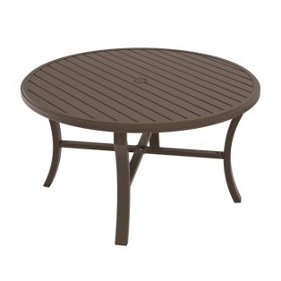 "Banchetto 54"" round slat top dining table"
