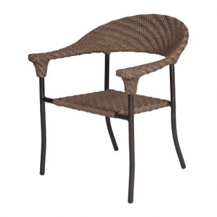 Barlow wicker arm chair with Bronze Teak finish