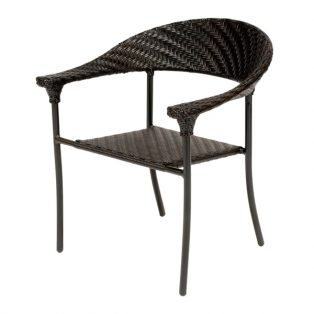 Barlow wicker arm chair with a Dark Roast finish