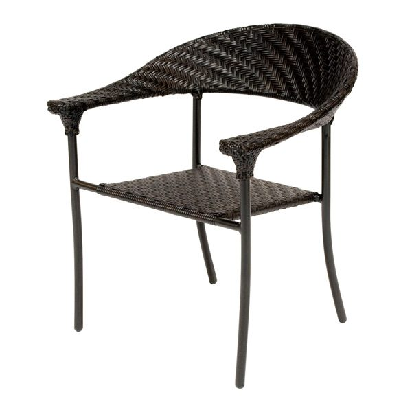 Barlow wicker arm chair with a Dark Roast finish