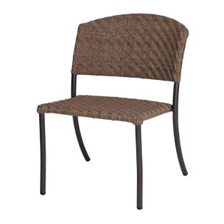 Barlow wicker side chair with a Bronze Teak finish