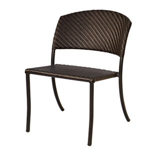 Barlow wicker side chair with a Dark Roast finish