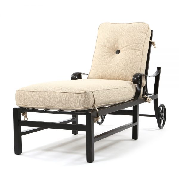 Bellagio adjustable chaise lounge with wheels
