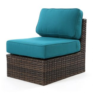 Bellanova wicker middle section with Spectrum Peacock fabric