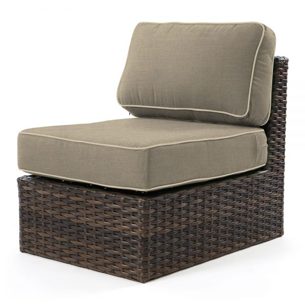 Bellanova wicker middle section with Spectrum Mushroom fabric
