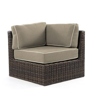 Bellanova wicker corner section with Spectrum Mushroom cushions