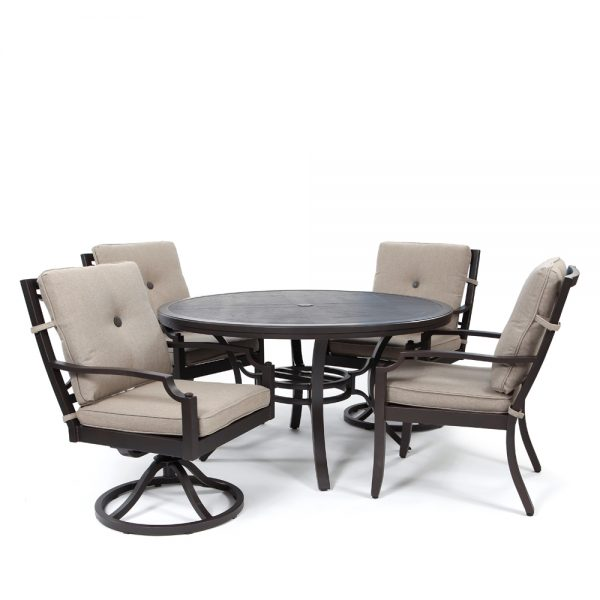 Sunvilla Bellevue 5 Piece Dining Group Sailcloth Shadow Today S Patio