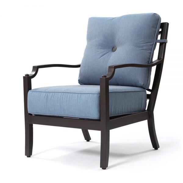 Bellevue club chair with Spectrum Denim cushions