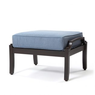 Bellevue ottoman with Spectrum Denim fabric