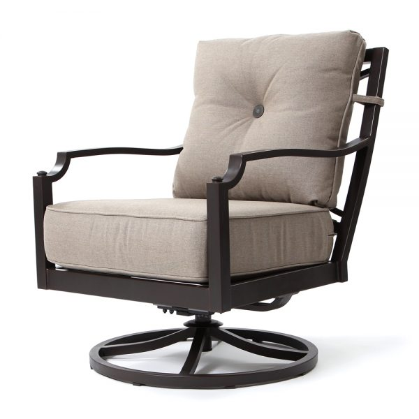 Bellevue swivel lounge chair with Sailcloth Shadow fabric