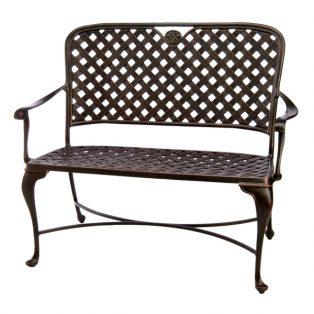 Summer Classics Provance cast aluminum outdoor bench