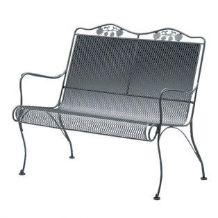 Brairwood high back wrought iron loveseat bench