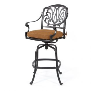 Biscayne swivel barstool with Canvas Teak fabric