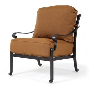 Biscayne club chair with Canvas Teak fabric