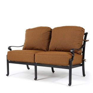 Biscayne love seat with Canvas Teak fabric