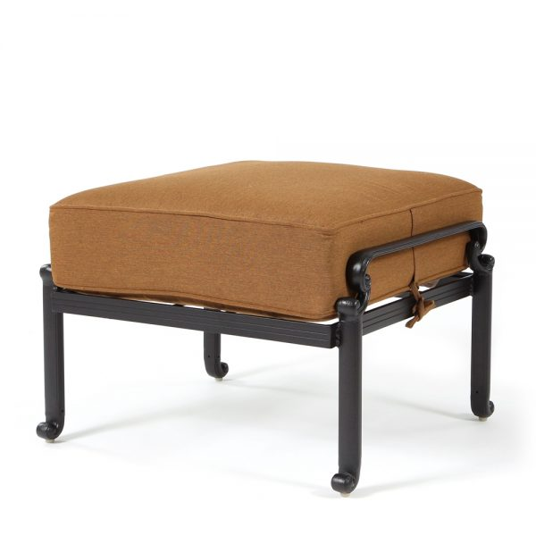 Biscayne ottoman with Canvas Teak fabric