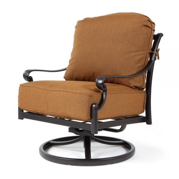 Biscayne swivel rocker club chair with Canvas Teak fabric