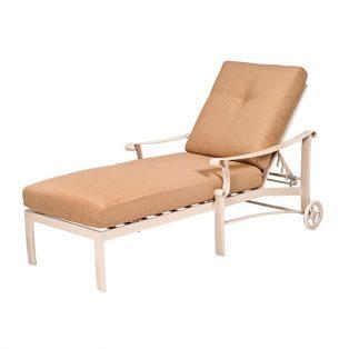 Woodard Bungalow aluminum chaise lounge