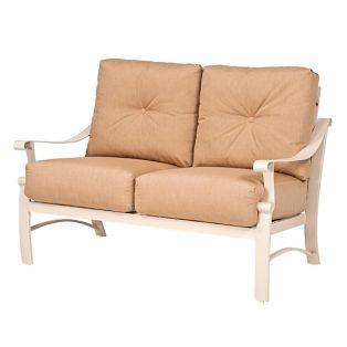 Woodard Bungalow aluminum outdoor love seat