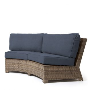 Cabo contour sofa with a Willow weave and Spectrum Indigo cushions
