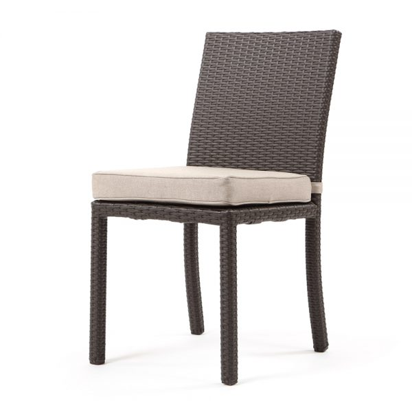 Cabo dining side chair - Jacobean weave with Blend Sand cushion