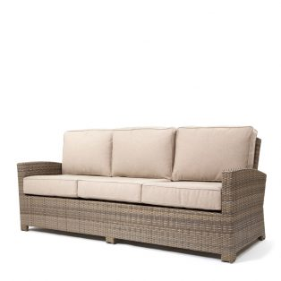 Cabo sofa with a Willow weave and Blend Sand cushions
