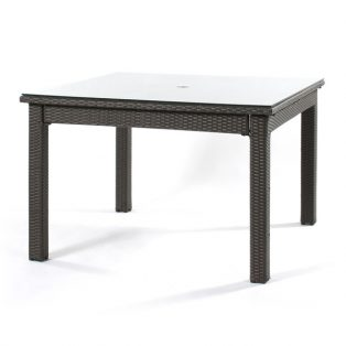 "Cabo wicker 48"" dining table"