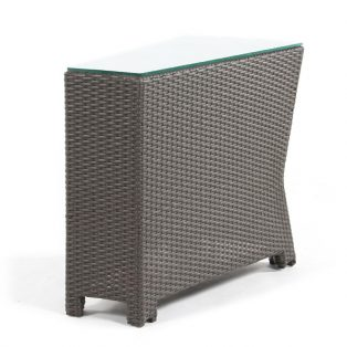 Cabo wicker wedge table