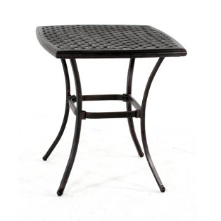 "Heritage 26"" square cast top cafe table"