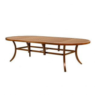 """Castelle 48"""" x 108"""" oval classical cast top dining table"""