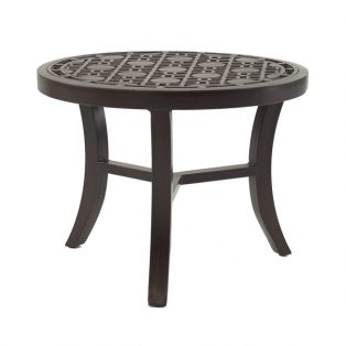 "Castelle 24"" round classical cast top side table"