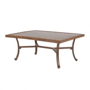 "Castelle 30"" x 42""  rectangular vintage cast coffee table"