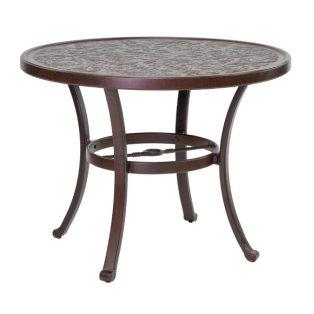 "Castelle 34"" round vintage cast bistro table"