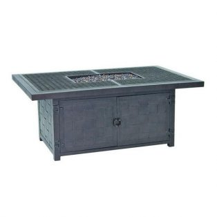 """36"""" x 54"""" rectangular coffee table with fire pit"""
