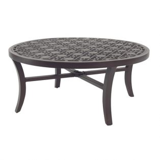 """Castelle 42"""" round classical cast top coffee table"""