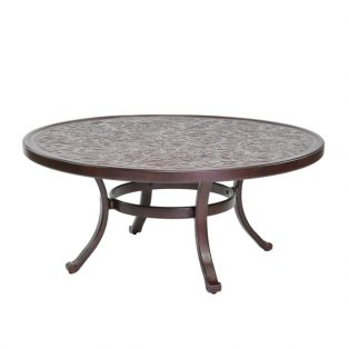 "Castelle 42"" round vintage cast coffee table"