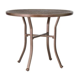 "Castelle 42"" round vintage cast bar height table"
