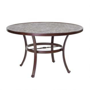 "Castelle 48"" round vintage cast dining table"
