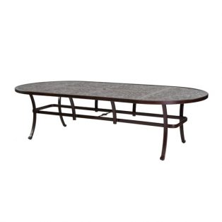 "Castelle 48"" x 108"" oval vintage cast dining table"