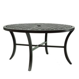 "Castelle 54"" round classical cast top dining table"