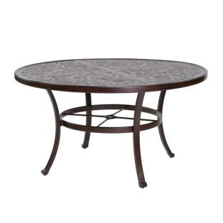 "Castelle 54"" round vintage cast dining table"