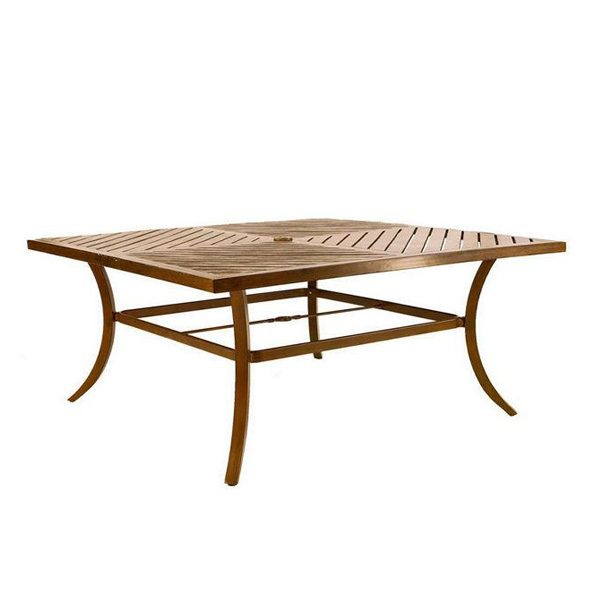 "Castelle 64"" square classical cast top dining table"