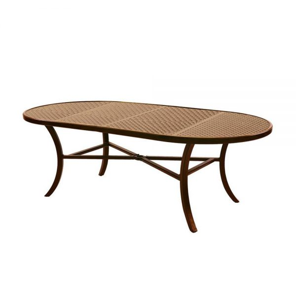 "Castelle 44"" x 86"" oval classical cast top dining table"