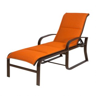 Cayman Isle padded sling chaise lounge
